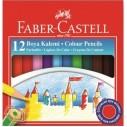 FABER-CASTELL - FABER KARTON KUTU BOYA KALEMİ 12 RENK YARIM BOY