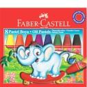 FABER-CASTELL - FABER PASTEL BOYA KARTON KUTU 8 RENK