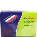 MAPIBIND - MAPIBIND 6mm PLASTİK SPİRAL SİYAH 100 ADET
