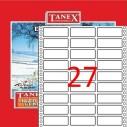 TANEX - TANEX 20x55mm BİLGİSAYAR ETİKETİ