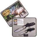 BUCK KNIFE - Buck 11818 351 & 352 Testere Ağızlı Çakı Seti (Metal Kutu) (1)