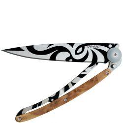 DEEJO - Deejo Tatoo 37 gr. Çakı Juniper Wood (Ardıç Ağacı) Tribal Motifi 1CB020