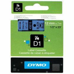 DYMO - DYMO 45016 D1 YEDEK ŞERİT 12mmx7mt MAVİ-SİYAH