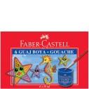FABER-CASTELL - FABER 6 RENK GUAJ BOYA