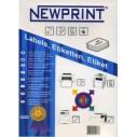 NEWPRINT - NEWPRINT LAZER ETİKET 99x210 mm (4031)