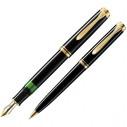PELİKAN - Pelikan Dolma + Tükenmez Kalem Souveran MK600 Siyah