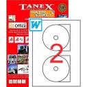 TANEX - TANEX 117mm LAZER CD ETİKETİ TW-3117
