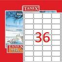 TANEX - TANEX 22x55mm BİLGİSAYAR ETİKETİ