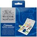 WINSOR & NEWTON - WİNSOR & NEWTON COTMAN SULU BOYA 14 RENK YARIM TABLET (1)